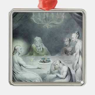 Christ in the House of Martha and Mary Metal Ornament