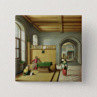 Christ in the House of Martha and Mary Pinback Button