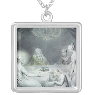 Christ in the House of Martha and Mary Silver Plated Necklace