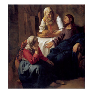 Christ in the House of Mary and Martha Posters