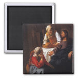 Christ in the House of Mary & Martha Refrigerator Magnets