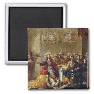 Christ in the House of Simon the Pharisee, 1660 2 Inch Square Magnet