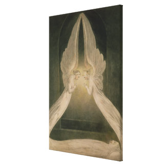 Christ in the Sepulchre, Guarded by Angels Stretched Canvas Print