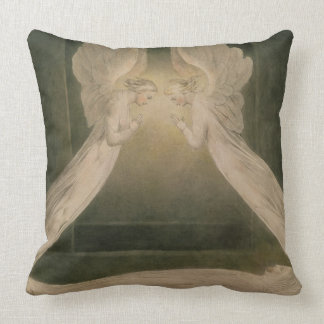 Christ in the Sepulchre, Guarded by Angels Throw Pillow