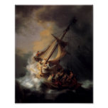 Christ In The Storm On The Sea Of Galilea Print