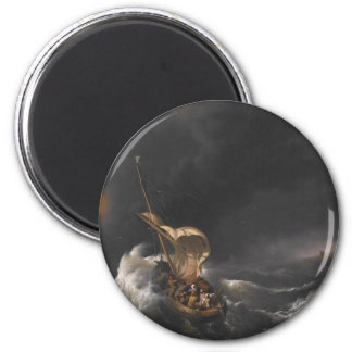 Christ in the Storm on the Sea of Galilee c. 1695 2 Inch Round Magnet