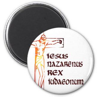 Christ INRI Tradution 2 Inch Round Magnet