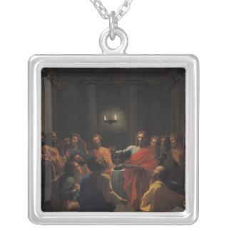 Christ Instituting the Eucharist Square Pendant Necklace