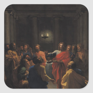 Christ Instituting the Eucharist Square Sticker