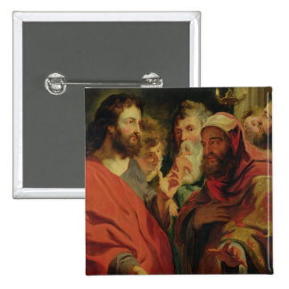 Christ Instructing Nicodemus 2 Inch Square Button