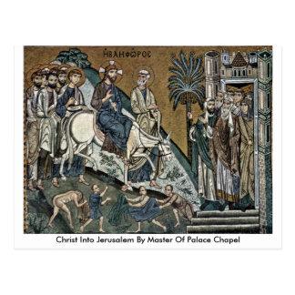 Christ Into Jerusalem By Master Of Palace Chapel Postcard