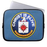 Christ Is Alive - C.I.A. icon look-alike Computer Sleeve