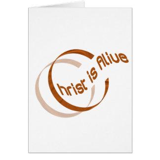 Christ is alive Motif Cuivre. Card