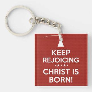 Christ is Born Acrylic Keychain