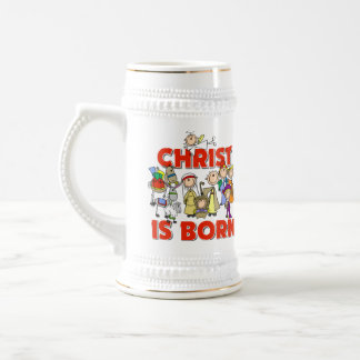 Christ Is Born Christmas Gift Beer Stein