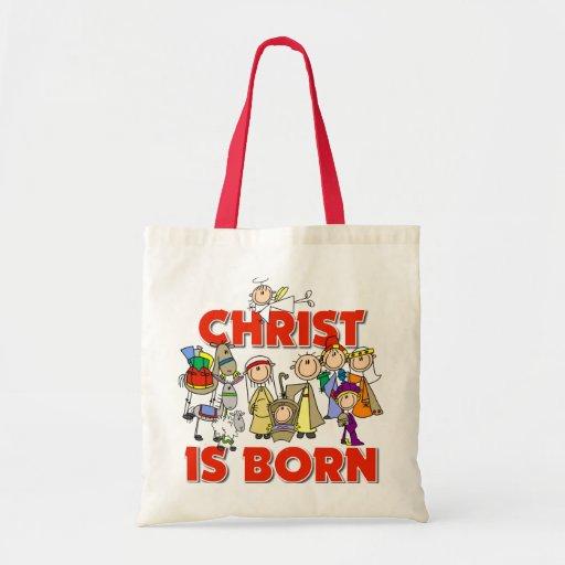 Christ Is Born Christmas Gift Budget Tote Bag