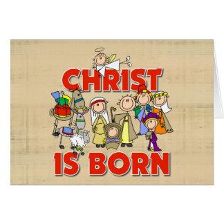 Christ Is Born Christmas Gift Card