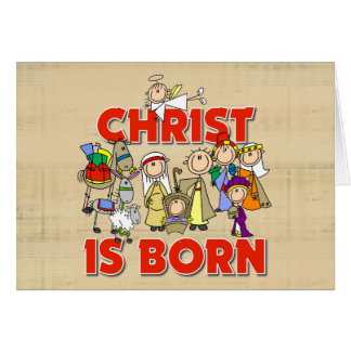 Christ Is Born Christmas Gift Greeting Card