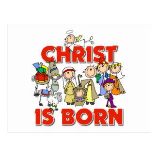 Christ Is Born Christmas Gift Postcard