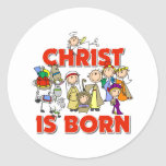 Christ Is Born Christmas Gift Stickers