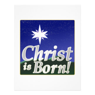Christ Is Born Full Color Flyer