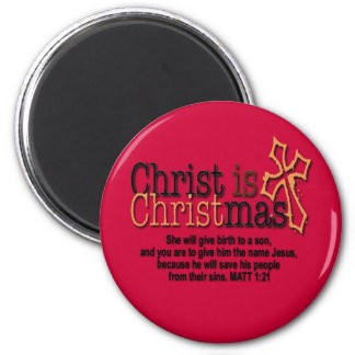 CHRIST IS CHRISTMAS 2 INCH ROUND MAGNET