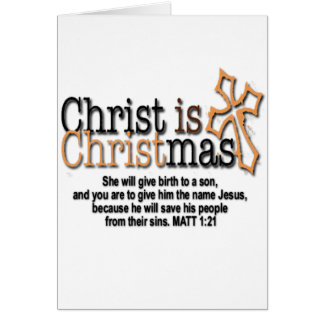 CHRIST IS CHRISTMAS CARD