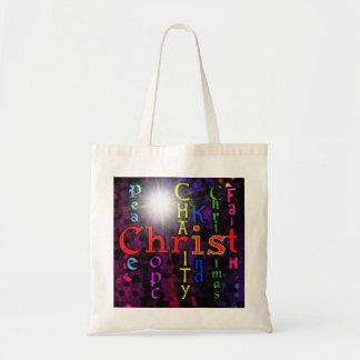 Christ is Christmas Cotton Tote Bag