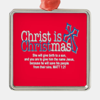 CHRIST IS CHRISTMAS INVERTED CHRISTMAS TREE ORNAMENT