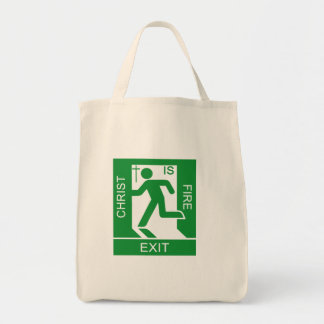 Christ is fire EXIT Tote Bag