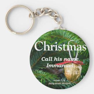 Christ is Immanuel Christmas Isaiah 7-14 Keychain