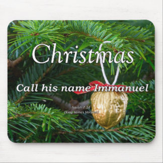 Christ is Immanuel Christmas Isaiah 7-14 Mouse Pad