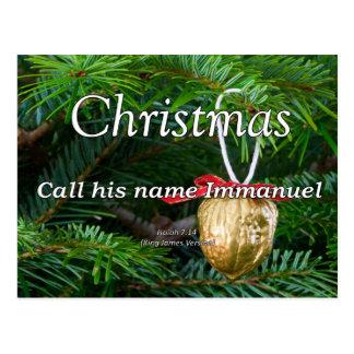 Christ is Immanuel Christmas Isaiah 7-14 Postcard