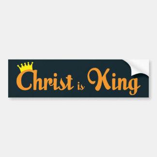 Christ Is King Car Bumper Sticker