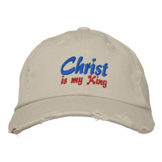 Christ Is My King Christian Embroidered Cap Embroidered Hats