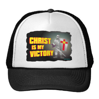 Christ is my victory religious design mesh hats