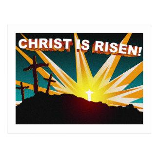 Christ is risen Christian cross gift design Postcard
