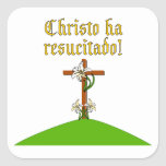Christ is Risen Square Stickers