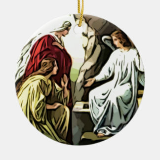 Christ Is Risen, Surely He is Risen! Double-Sided Ceramic Round Christmas Ornament