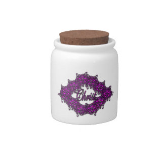 Christ is the Center - Fashion Pink Candy Jars