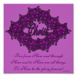 Christ is the Center - Fashion Pink Poster