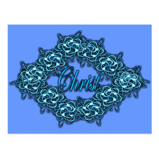 Christ is the Center - Ice Blue Postcard