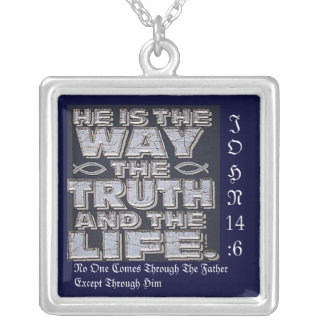 Christ Is The Way Square Pendant Necklace