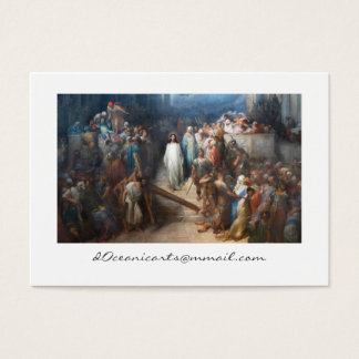 Christ Leaving Praetorium Business Card