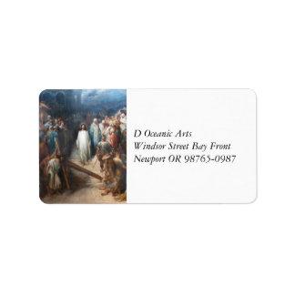 Christ Leaving Praetorium Label