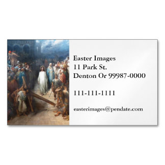Christ Leaving Praetorium Magnetic Business Card
