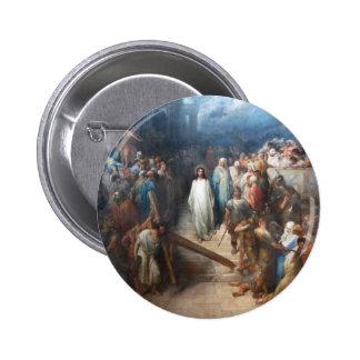 Christ Leaving Praetorium Pinback Button