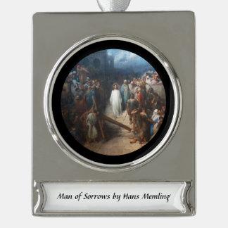 Christ Leaving Praetorium Silver Plated Banner Ornament