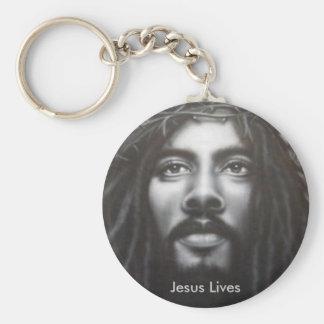 Christ Lives Basic Round Button Keychain