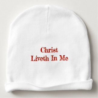 Christ Liveth In Me Baby Beanie